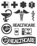 Medyczny ikona set. Fotografia Royalty Free