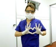 Medyczny kardiolog lub pediatra, serce Obraz Royalty Free