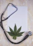 Medyczny marihuany tło fotografia royalty free