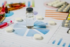 Medyczny marketing i opieki zdrowotnej biznesowa analiza raport zdjęcia royalty free