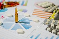 Medyczny marketing i opieki zdrowotnej biznesowa analiza raport obrazy royalty free