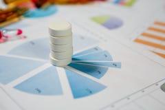 Medyczny marketing i opieki zdrowotnej biznesowa analiza raport fotografia royalty free