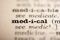 medyczny słowo Obraz Stock