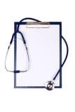Medyczny schowek i stetoskop Obraz Stock