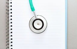 Medyczny stetoskopu pojęcie. Zdjęcia Royalty Free