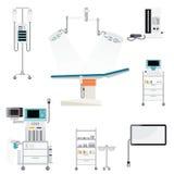 Medyczny szpital z sprzętem medycznym ilustracji