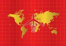 Medyczny turystyki i opieki zdrowotnej tło Wektorowy ilustracyjny płaski projekt, 21 2017 LIPIEC Obrazy Stock