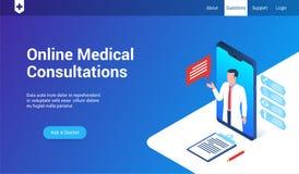 Medycznych konsultacji 3d szablon royalty ilustracja