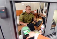Medyka, Polen - 11. Juni 2017: Medyka-Shegynikontrollpunkt auf Stockbilder