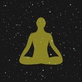 Medytaci ikona istota ludzka medytuje w lotos pozie Zdjęcia Royalty Free