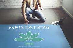 Medytaci opieki zdrowotnej Lotosowego kwiatu grafiki pojęcie Zdjęcia Stock