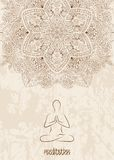 Medytaci tło z mandala Fotografia Stock