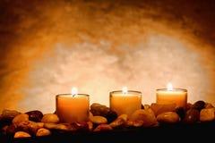 medytacj płonące świeczki Zdjęcia Royalty Free