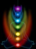 Medytacja, chakras Zdjęcie Royalty Free