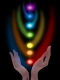 Medytacja, chakras Zdjęcia Stock