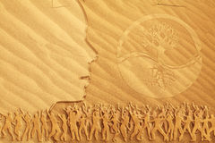 medytacja dancingowy piasek obraz royalty free