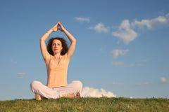 medytacja dziewczyny Zdjęcia Royalty Free
