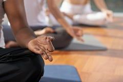 Medytacja i joga pojęcie Fotografia Stock