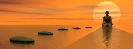 medytacja kroki Obraz Royalty Free