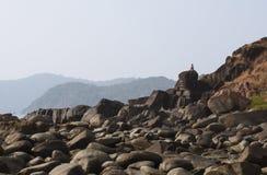 Medytacja na górze - Akcyjny wizerunek obraz stock
