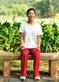 medytacja plenerowa zdjęcie stock