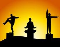 medytacja tai chi jednostek gospodarczych ilustracja wektor