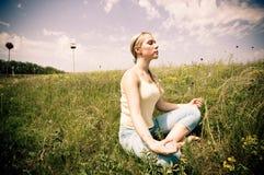 medytować Zdjęcie Royalty Free