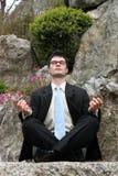 medytować biznesmena Zdjęcia Royalty Free