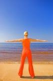 medytować blondynkę Fotografia Stock