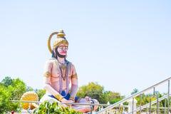 Medytować hinduską bóg hanuman statuę Obrazy Stock