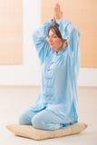 medytować kobiety Zdjęcie Stock
