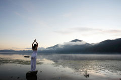 medytować kobiety Fotografia Royalty Free