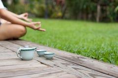 medytować kobiety Obraz Royalty Free