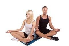 medytuje joga Obraz Royalty Free