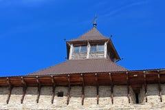Medzhybizh城堡,乌克兰塔顶视图  图库摄影