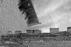 Medzhybizh城堡,乌克兰塔顶视图  库存图片