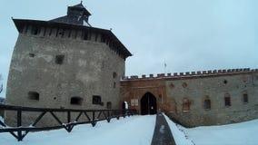 Medzhybizh slottKhmelnytskyi Ukraina vinter arkivfilmer