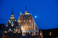 Meeëtershuis (Riga, Letland) Stock Fotografie