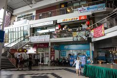 Mee Choke Plaza. Modern Plaza in Urban fringe of chiangmai city. CHIANG MAI, THAILAND - JUNE 27 2018: Mee Choke Plaza. Modern Plaza in Urban fringe of chiangmai royalty free stock photo