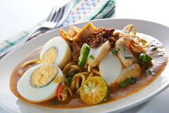 Mee Rebus Spicy Noodle Table Set royalty free stock photo