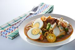 Mee Rebus Spicy Noodle Table Set Royalty Free Stock Photography