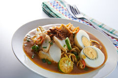 Mee Rebus Spicy Noodle Table Set Stock Image