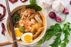 Mee singapurense do camarão Imagem de Stock