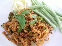 Mee-yum-kra-a chanté Salade épicée de nouille traditionnelle de krasang Images stock