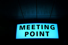 'Meeing Point' Signboard Royalty Free Stock Photos