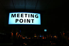 'Meeing Point' Signboard Royalty Free Stock Images