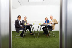 Meeing in a sustainable conference room royalty free stock photo