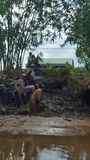 Meekong deltaplaatselijke bewoners Royalty-vrije Stock Foto's