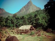 Meemure Village in Sri Lanka stock image
