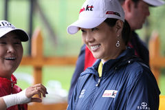 Meena Lee at  Evian Masters 2010 Royalty Free Stock Image